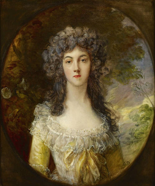 Thomas Gainsborough Wall Art - Painting - Portrait Of Mrs Charles Hatchett by Thomas Gainsborough