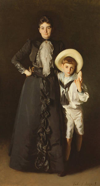 Victorian Era Painting - Portrait Of Mrs Edward L Davis And Her Son, Livingston Davis, 1890 by John Singer Sargent