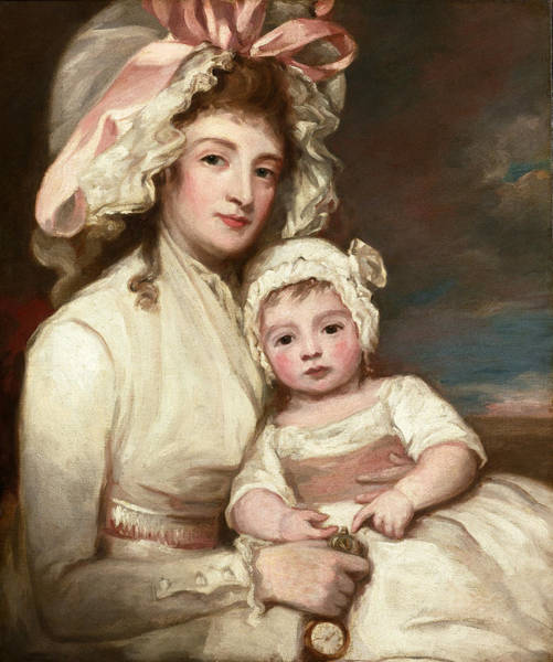 Romney Painting - Portrait Of Mrs. Henry Ainslie With Her Child by George Romney
