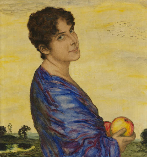 Franz Von Stuck Painting - Portrait Of Mrs. Von Stuck by Franz von Stuck