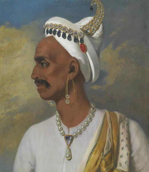 Painting - Portrait Of Nana Fadnavis by John Thomas Seton