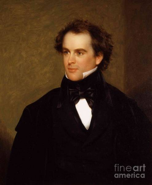 Wall Art - Painting - Portrait Of Nathaniel Hawthorne by MotionAge Designs