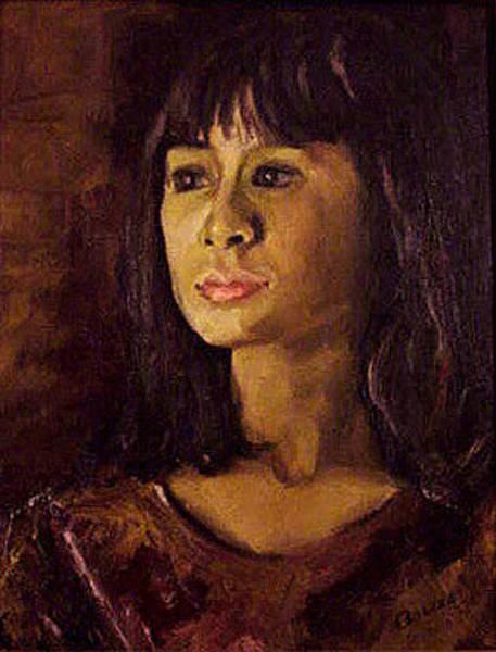 Mumbai Painting - Portrait Of Neelum by Anees Peterman