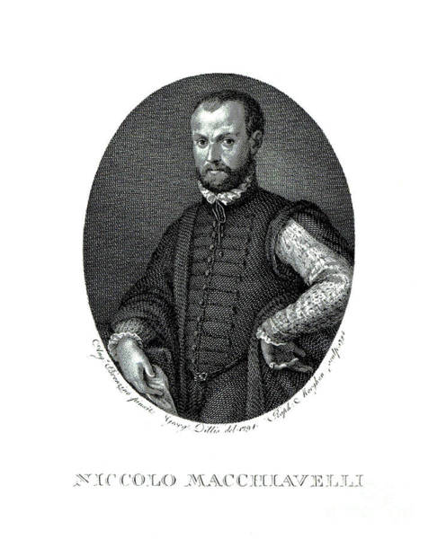 Wall Art - Drawing - Portrait Of Niccolo Machiavelli  by Agnolo Bronzino