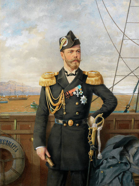 Collapse Painting - Portrait Of Nicholas II by Stepan Fedorovich Alexandrovsky