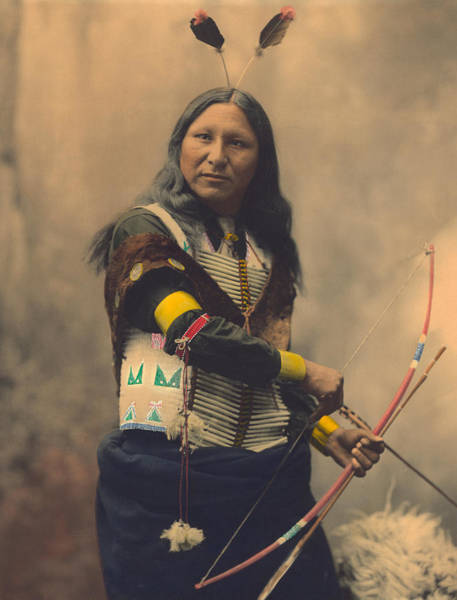 Red Arrows Photograph - Portrait Of Oglala Sioux Shout by American School