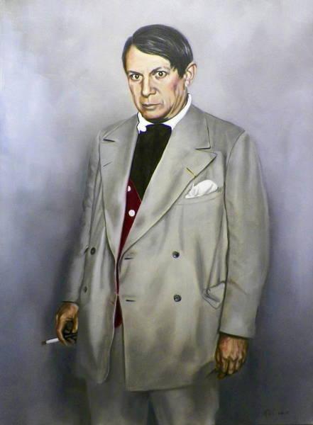 Portrait Of Pablo Picasso Art Print