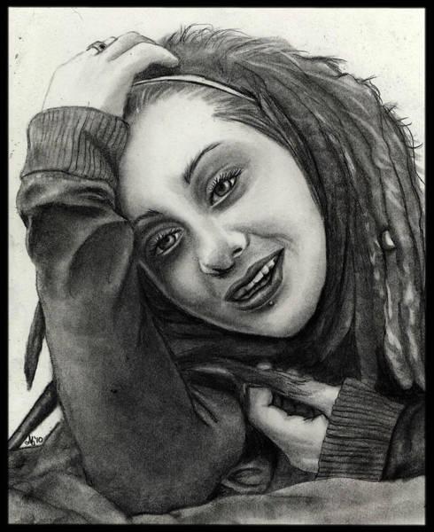 Wall Art - Drawing - Portrait Of Patricia by Alycia Ryan