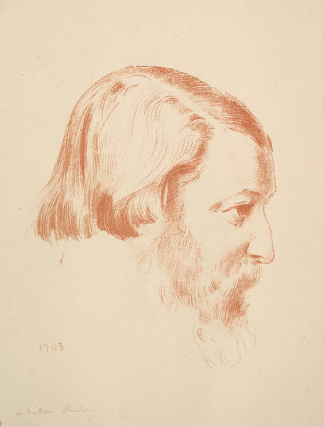 Relief - Portrait Of Paul Serusier by Odilon Redon