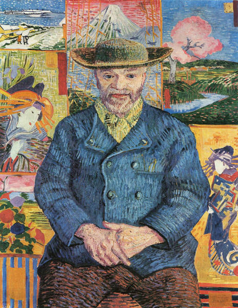 Confident Painting - Portrait Of Pere Tanguy, 1887 01 by Vincent Van Gogh