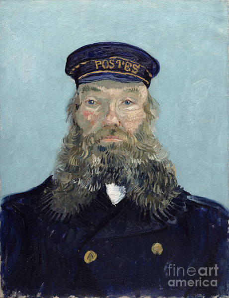 Painter Photograph - Portrait Of Postman Roulin by Vincent van Gogh