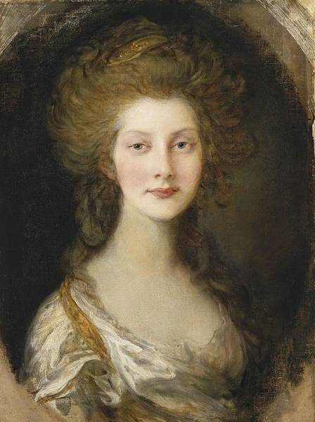 Thomas Gainsborough Wall Art - Painting - Portrait Of Princess Augusta by MotionAge Designs