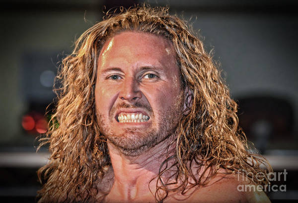 Pro Wrestler Wall Art - Photograph - Portrait Of Pro Wrestler Dylan Drake II by Jim Fitzpatrick