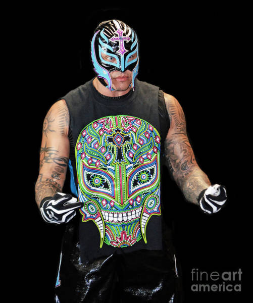 Wall Art - Photograph - Portrait Of Rey Mysterio by Jim Fitzpatrick