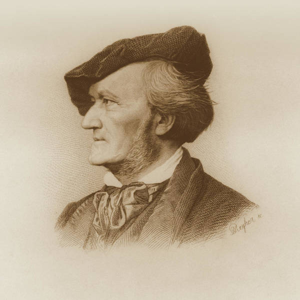 Wall Art - Painting - Portrait Of Richard Wagner by Robert Reyher