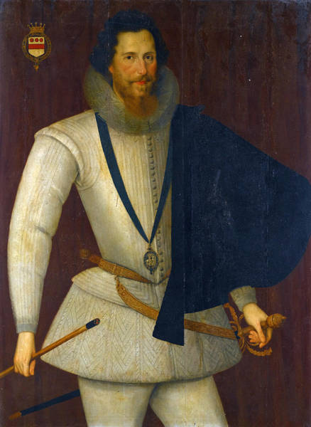 Wall Art - Painting - Portrait Of Robert Devereux 2nd Earl Of Essex by Studio of Marcus Gheeraerts the Younger