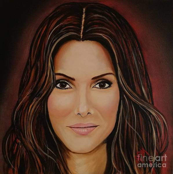 Painting - Portrait Of Sandra Bullock by Shawn Christopher Mooney