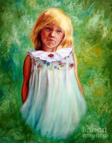 Portrait Of Sara Art Print