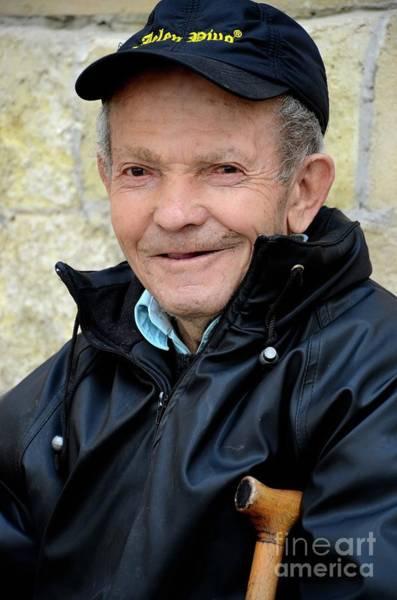 Photograph - Portrait Of Serbian Senior Man With Cap Belgrade Serbia by Imran Ahmed