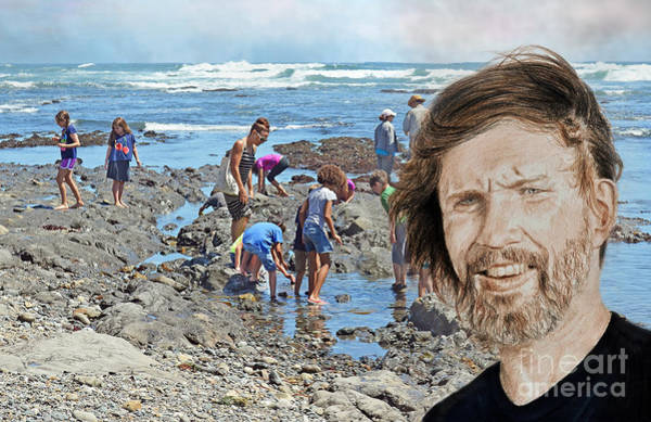 Wall Art - Photograph - Portrait Of Singer, Songwriter, Musician And Actor Kris Kristofferson At The Beach by Jim Fitzpatrick