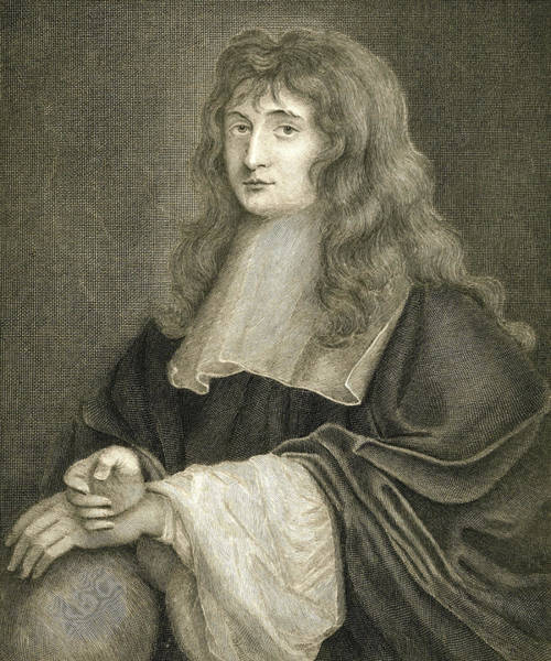Math Drawing - Portrait Of Sir Isaac Newton by Sir Peter Lely