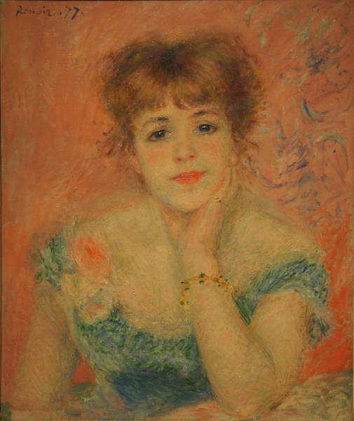 Portrait Of The Actress Jeanne Samary Art Print by Pierre Auguste Renoir