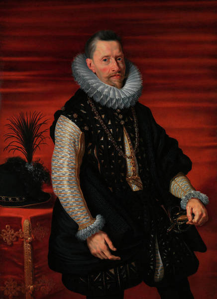Nobility Painting - Portrait Of The Archduke Albert by Peter Paul Rubens