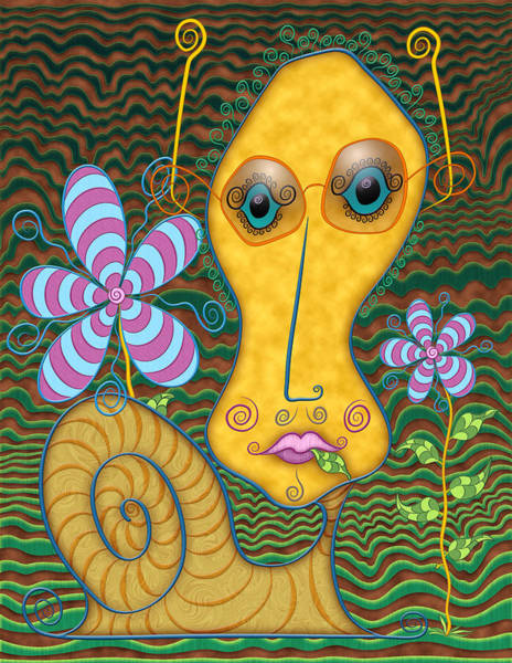Digital Art - Portrait Of The Artist As A Young Snail by Becky Titus