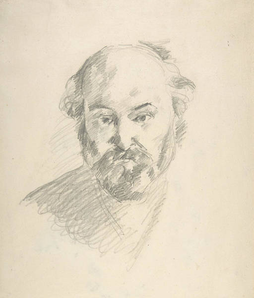 French Artist Drawing - Portrait Of The Artist by Paul Cezanne