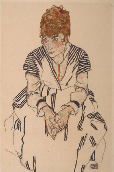 Adele Painting - Portrait Of The Artist's Sister-in-law, Adele Harms, 1917 by Egon Schiele