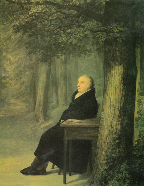 Wall Art - Painting - Portrait Of The Bookseller by Georg Friedrich Kersting