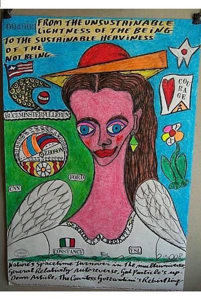 Wall Art - Painting - Portrait Of The Countess Gozzardini by Francesco Martin