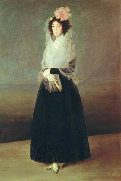 Beauty Salon Painting - Portrait Of The Countess Of Carpio 1757  by Francisco Goya