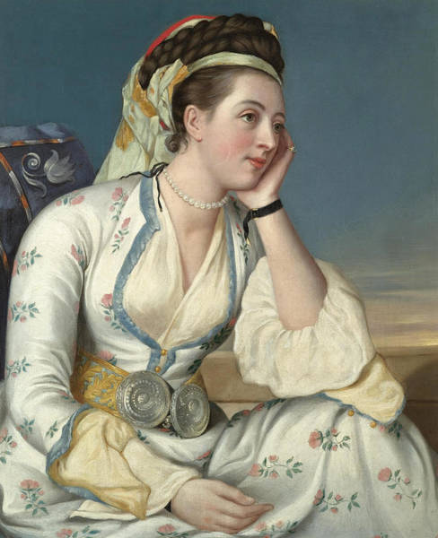 Jean Etienne Liotard Wall Art - Painting - Portrait Of The Countess Of Coventry by After Jean Etienne Liotard