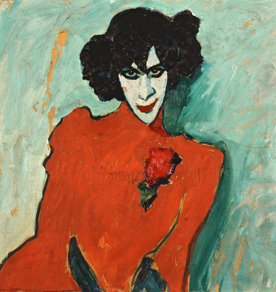 Munich Painting - Portrait Of The Dancer Aleksandr Sakharov by Alexej von Jawlensky