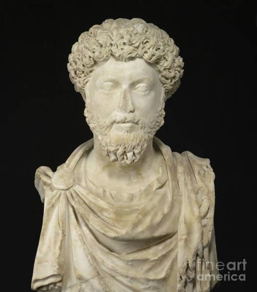 Wall Art - Sculpture - Portrait Of The Emperor Marcus Aurelius by Roman School