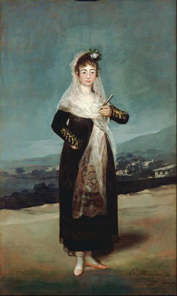 Perfect Body Painting - Portrait Of The Marquesa De Santiago 1804 by Francisco Goya