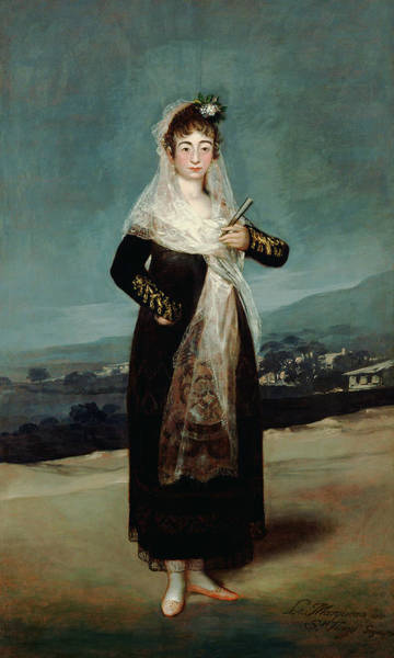 Painting - Portrait Of The Marquesa De Santiago by Francisco Goya