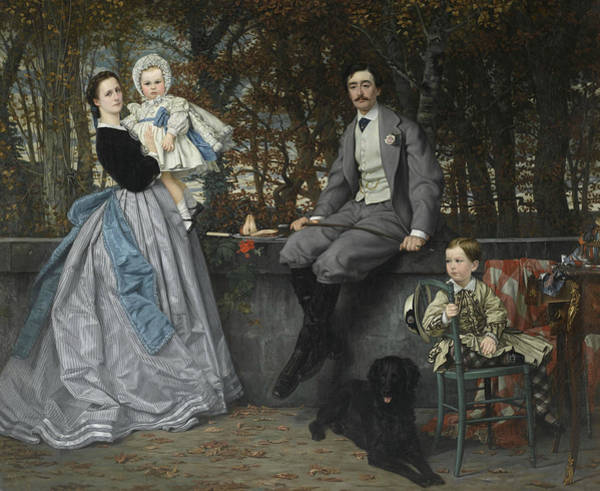 Painting - Portrait Of The Marquis And Marchioness Of Miramon And Their Children by James Tissot