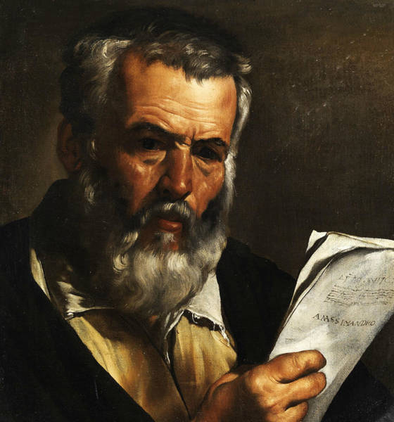 Philosopher Wall Art - Painting - Portrait Of The Philosopher Anaximander by Pietro Bellotti