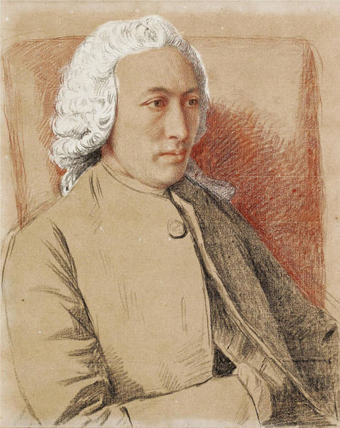 Jean Etienne Liotard Wall Art - Drawing - Portrait Of The Philosopher And Naturalist Charles Bonnet by Jean-Etienne Liotard