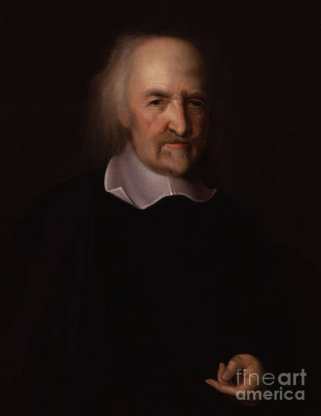 Wise Man Wall Art - Painting - Portrait Of Thomas Hobbes by John Michael Wright