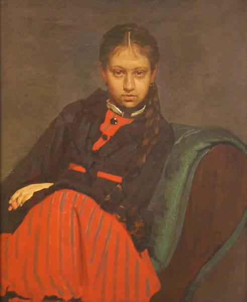 Portrait Of Vera Shevtsova Art Print by Ilya Repin