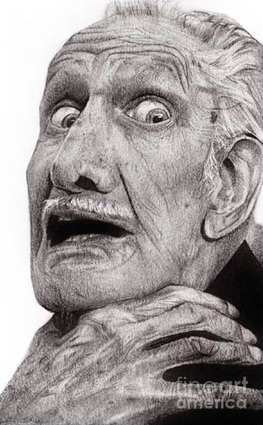 Wall Art - Drawing - Portrait Of Vincent Price by Carrie Jackson