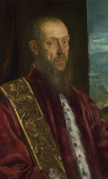 Painting - Portrait Of Vincenzo Morosini by Tintoretto