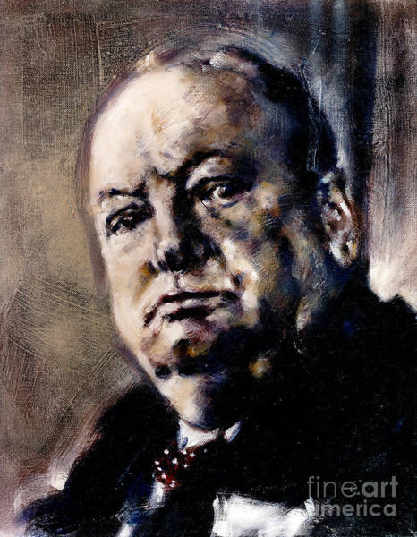 Painting - Portrait Of Winston Churchill by Ritchard Rodriguez