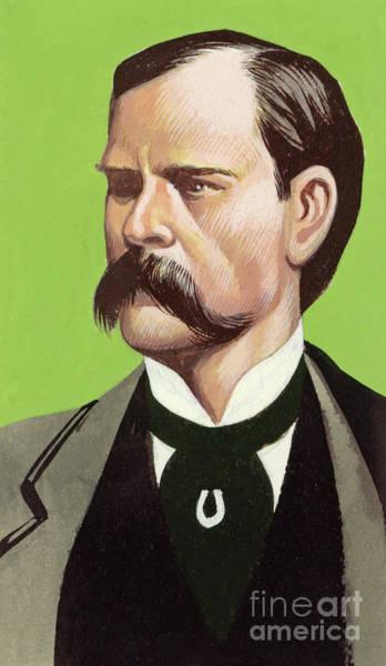 Wall Art - Painting - Portrait Of Wyatt Earp by Ron Embleton