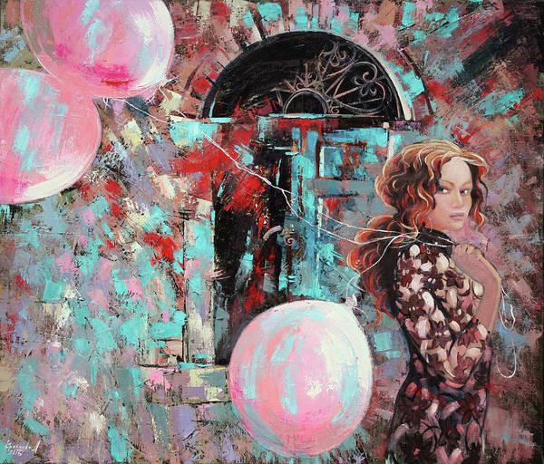 Wall Art - Painting - Portrait. Pink Dreams by Anastasija Kraineva