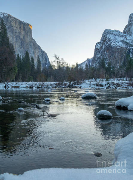 Photograph - Portrait View Of Sunset Over El Capitan In Yosemite National Par by PorqueNo Studios