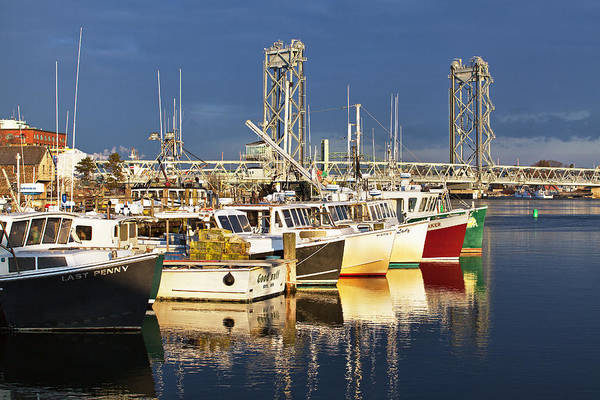 Wall Art - Photograph - Portsmouth Fishing Boats At Sunrise by Eric Gendron